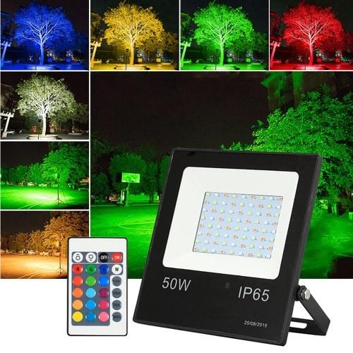 Proyector RGB LED de 10W con mando a distancia 16 colores 4 modos de iluminación Luminaria reflector ajustable de brillo