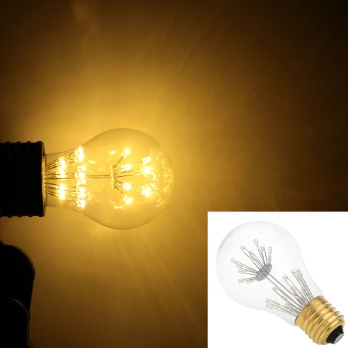 3W A19 LED Bulb Light AC 110V E26 Base 30W Equivalent Vintage Edison Design Warm Light Retro Holiday Christmas Festival Decorations Warm White 2200K