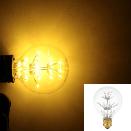 3W G80 LED Bulb Light AC 110V E26 Base 30W Equivalent Vintage Edison Design Warm Light Retro Holiday Christmas Festival Decorations Warm White 2200K