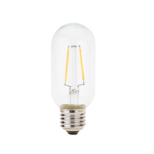 2W LED T45 Filament Bulb AC 220V E27 Base 20W Equivalent Vintage Retro Holiday Christmas Festival Decorations Warm White 2200K