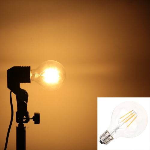 4W светодиодные G80 накаливания лампы AC 110V E26 база 40W эквивалент урожай ретро праздник Рождество фестиваль украшения теплый белый 2200K