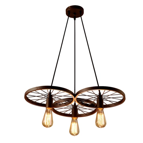 Lixada 3 bras pendants E27 suspension en métal