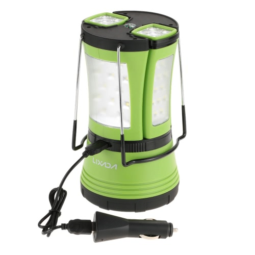 Lixada 10W 600LM LED  Rechargeable Lantern 2 Detachable Mini Flashlights Torch Water-resistant Tent Light Multifunctional with USB Cable Car Charger for Camping Hiking Outdoor Emergency Use