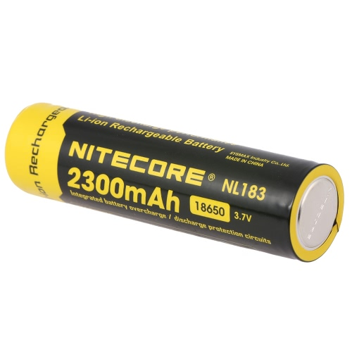 NITECORE 18650 Аккумуляторная батарея 2300mAh 3.7V Большая емкость для светодиодного фонарика Факел фары Фара головного света с печатной платой