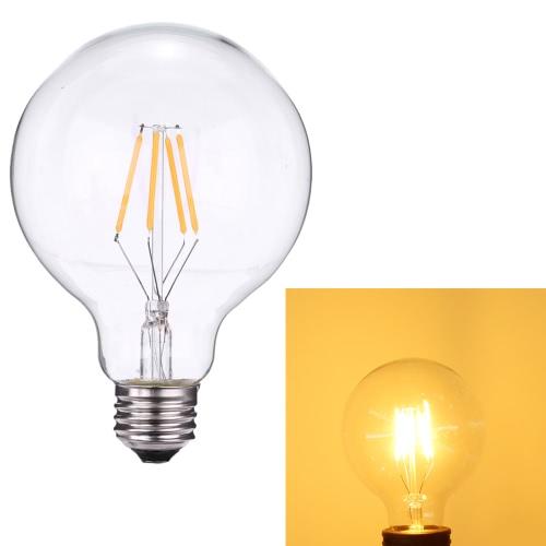 4W G95 светодиодные лампочки накаливания Фонарь-Shaped AC220-240V Основание E27 2700K Урожай ретро отдыха Фестиваль украшения Теплый белый
