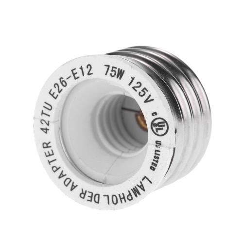 UL сертификат 12 пакетов E26 в E12 Держатель лампы базы Адаптер конвертера Medium Винт для канделябров резьбовым цоколем