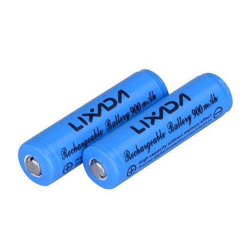 2pcs Lixada 3.7V 900mAh 14500 batería recargable de iones de litio