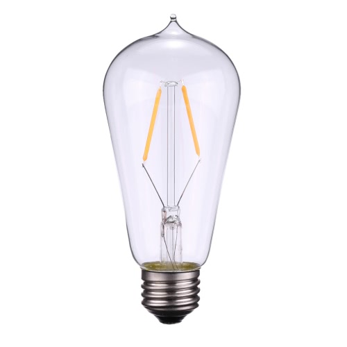 Tomshine 2W ST58 LED Filament Bulb Light AC220-240V E27 Base 2700k Vintage Retro Holiday Festival Decorations Warm White