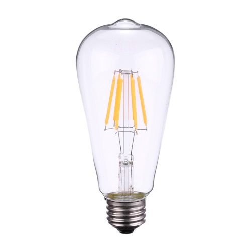 Tomshine 6W ST64 LED Filament Bulb Light AC110-120V E26 Base 2700K Edison Style Antique Vintage Retro Holiday Festival Decorations Warm White
