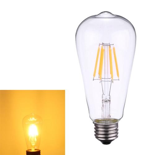 Tomshine 6W ST64 LED Filament Bulb Light AC220-240V E27 Base 2700K Vintage Retro Holiday Festival Decorations Warm White