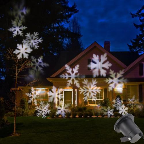 Tomshine 4W 4LED en movimiento del copo de nieve de Navidad de película IP65 de Navidad por un jardín del césped