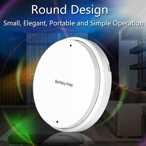 Portable 1 Gang Battery-free Self-powered RF 433MHz Wireless Remote Control Lamp Switch with Receiver for Home Office Hotel KTV Stage Market Exhibition Light