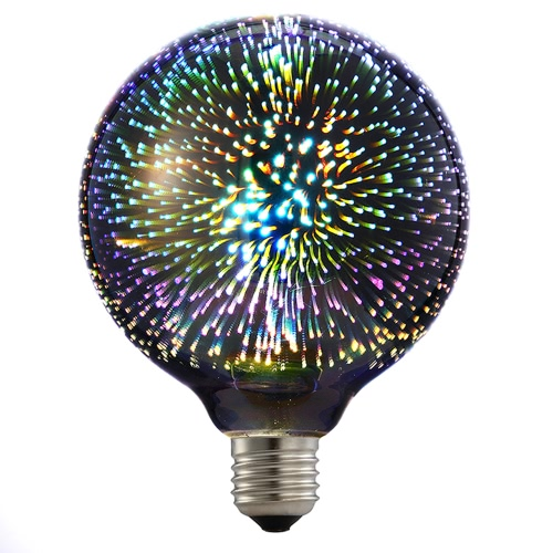 Ampoule colorée de feux d'artifice de filament de 6W E27 LED 3D ST64