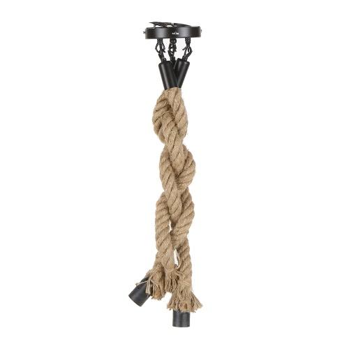 Luz pendiente titulares Tomshine 0,5 M AC 220-240V E27 Triple 3 cabezas de cuerda del cáñamo