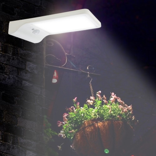 IP65 Water Resistant Solar Powered  Wall Lamp Outdoor Night Light