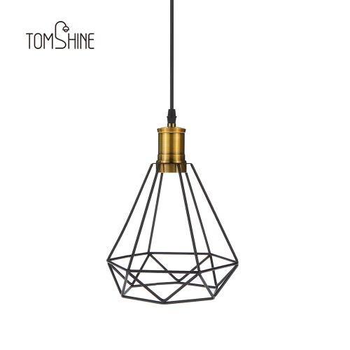 Tomshine Industrial Vintage Cage Pendant Light фото
