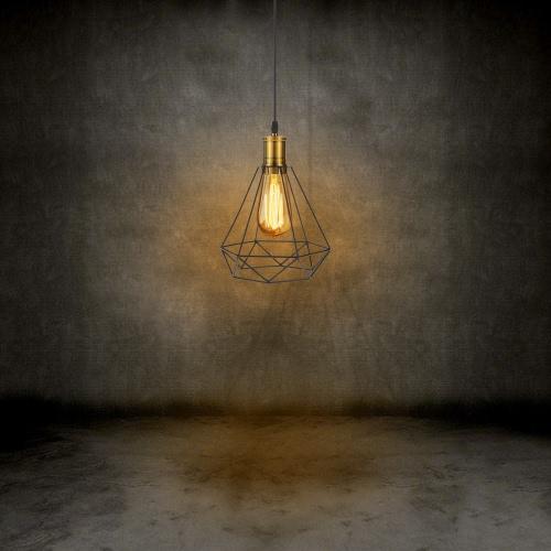 Tomshine Industrial Vintage Cage Luz Colgante