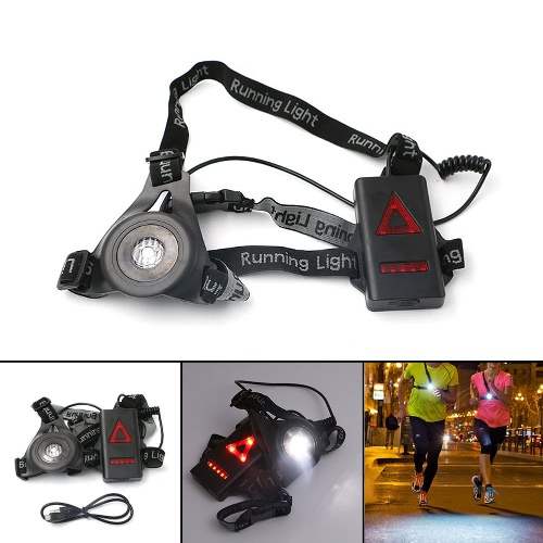 LED-Truhe Laufen Licht 3 Modi Wiederaufladbare 800LM für Jagd Jogging Wandern Outdoor Sport