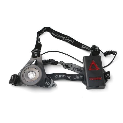 Luz de funcionamiento del pecho del LED 3 modos 800LM recargable para la caza que activa el senderismo Deportes al aire libre