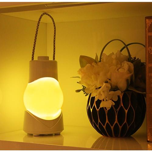 LED portátil sin escalonamiento noche luz con música