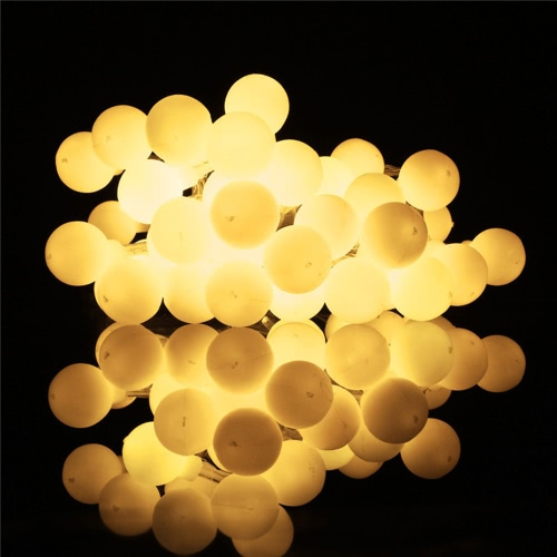 20/30/40 Pcs Globe String Twinkle Lights with Bulbs Indoor LED Safety Warm White Fairy Festoon Party Lighting for Patio Wedding Bedroom Party Multicolor