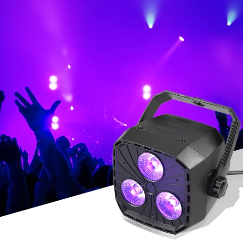 3 * 8W Mando a distancia RGBW 4 en 1 Zoom Dmx Mini Par Light