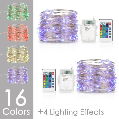 Tomshine 5M/ 16.4FT RGB String Light with Remote Control