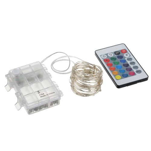 Tomshine 5M / 16.4FT RGB String Licht mit Fernbedienung