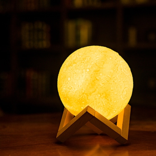 LED SMD2835 USB Rechargeable Dimmable Moon Shadow Night Light