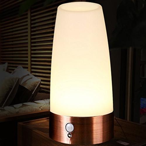Kabelloses Induktions-Bewegungs-Sensor LED-Tabellen-Nachtlicht des menschlichen Körpers