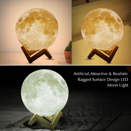 Lampe de nuit à DEL Moon Moon SMD5730 avec port de charge USB
