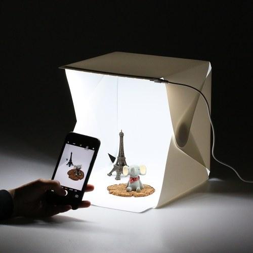 20LEDs Складная портативная камера для фотосъемки с кубической камерой с фоном