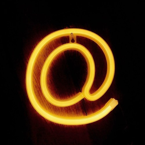Светодиодный символ Lamp Night Light @ & # Shape Warm White