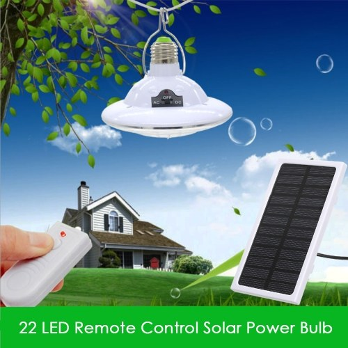 22 светодиодная солнечная энергия лампочка с пультом дистанционного управления