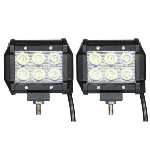2шт 18 Вт Автомобильная лампа с подсветкой 6000K (Spot Beam)