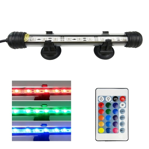 AC110-240V 2.4W 9 LED RGB Submersible Aquarium Lamp