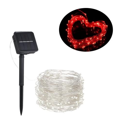 1.2W 2M / 6.6Ft 20 LED Solarbetriebene Energie Kupferdraht Fairy String Light