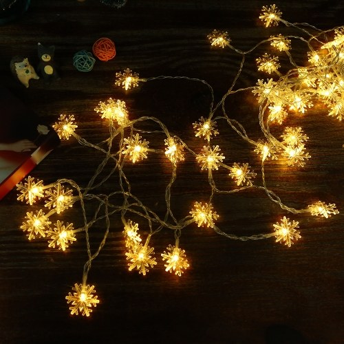 0.6W 1.5M 10 LEDs Snowflake String Light