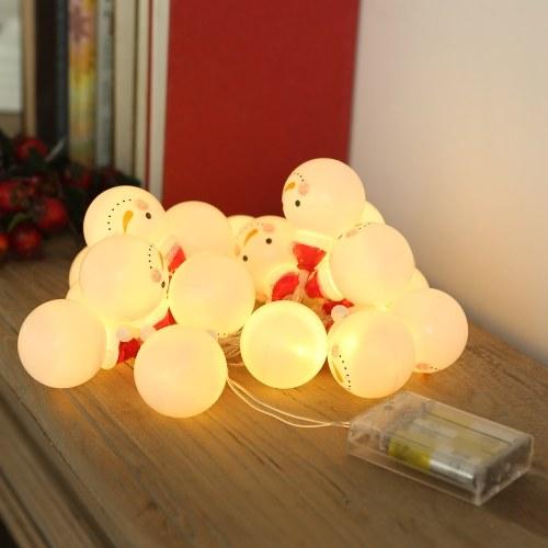 1M 1W 10 светодиодов Снеговик дизайн Fairy String Light фото