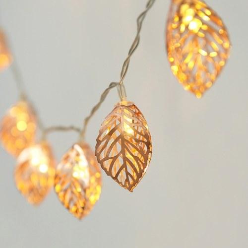 4.5V 1.2W 2M 20 LEDs Hollow-out Leaf Design Fairy String Light