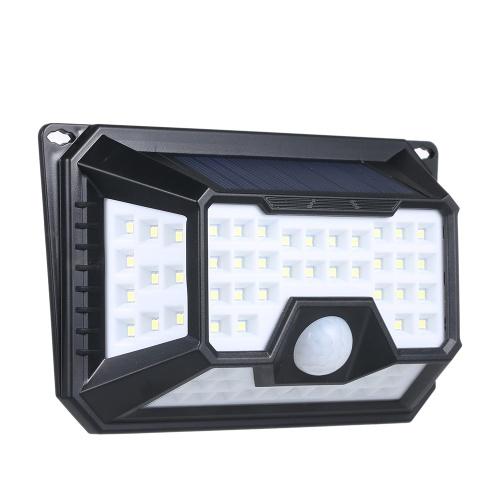66 LEDソーラーライトPIRモーションセンサーウォールランプ