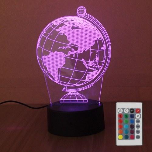 DC4.5V 5W 3D 10 LED RGB luz nocturna con control remoto