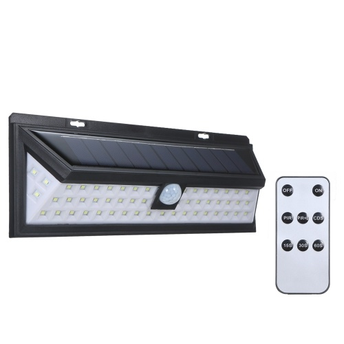 54 LEDs Solar Wall Light With Remote Control