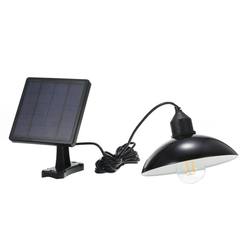 Solar Powered Energy Pendant Light E27 Outdoor Lamp Sensitive Light