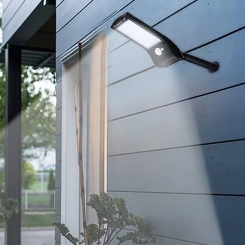 4PCS 36 светодиодов Солнечный настенный светильник PIR Motion Sensor Лампа с монтажным полюсом