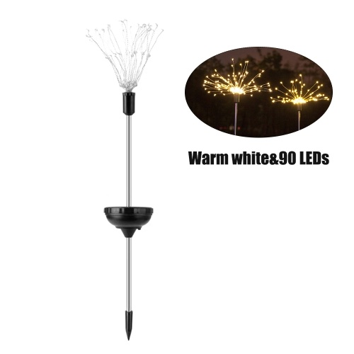 1PCS Solar Powered 90LE-D Lights Copper