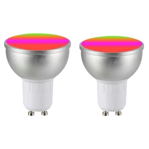 AC85-265V 4Pack 6W RGBW WIFI Подключенная интеллектуальная лампочка