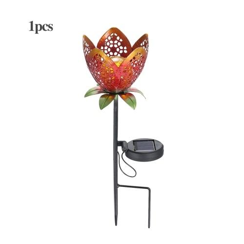 Solar LED Flower Light Lawn Lantern Flame Lamp