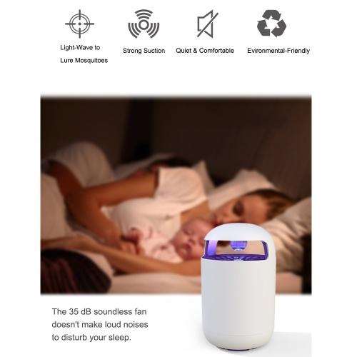 USB Electronic LED Mosquito Killer Lamp Bug Zapper with Trap Lamp