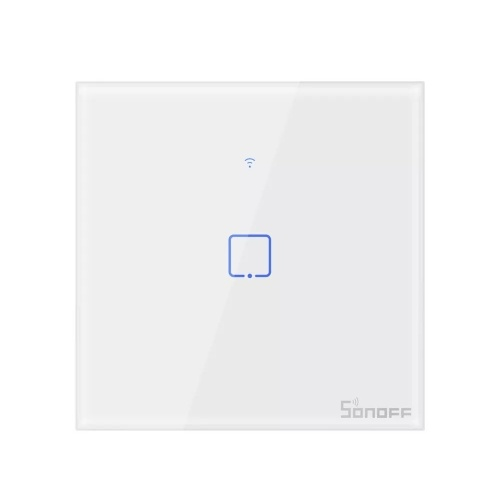 SONOFF T0 AC100-240V WIFI Interruptor de pared Interruptor de luz de pared inteligente para el hogar inteligente